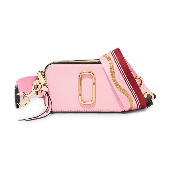 THE MARC JACOBS the snapshot coated leather camera bag in new baby pink red