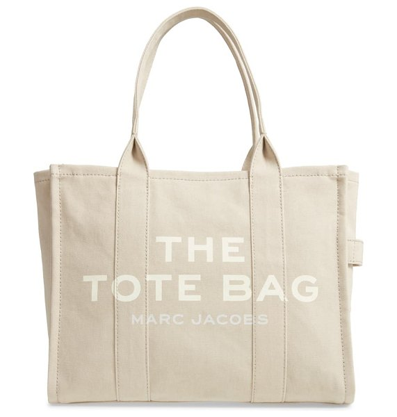 THE MARC JACOBS traveler canvas tote in beige