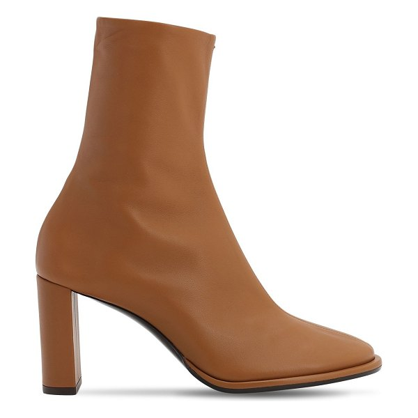 The Row 85mm teatime leather ankle boots in tan