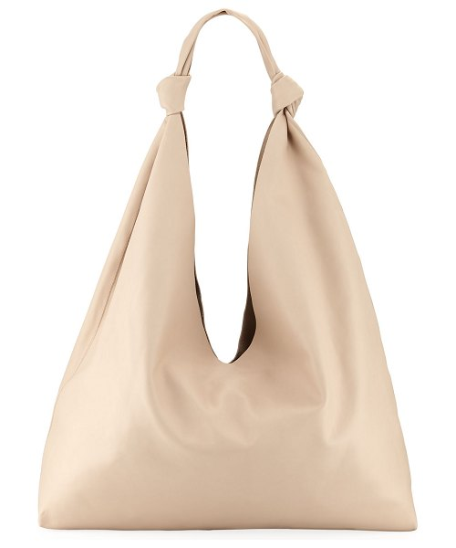 The Row Bindle Double-Knots Leather Hobo Bag in eggshell - THE ROW hobo bag in smooth calf leather. Knotted...