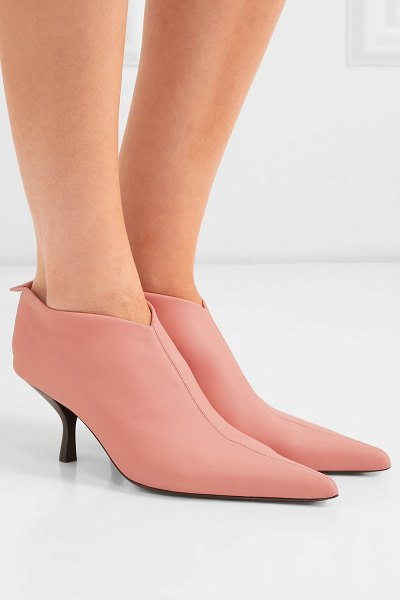 The Row bourgeoise leather ankle boots in pink