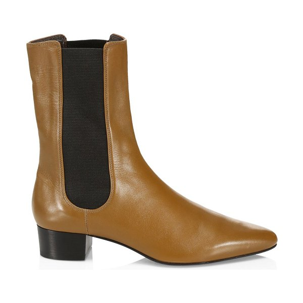 The Row british leather boots in fawn