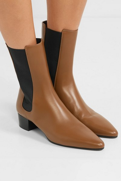 The Row british leather chelsea boots in tan