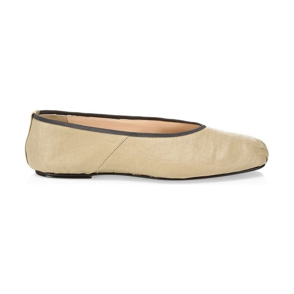 The Row canvas ballet flats in camel