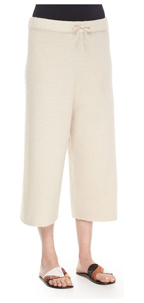 The Row Cropped Cashmere/Silk Sweatpants in cream - THE ROW sweatpants in super-soft cashmere-silk blend....