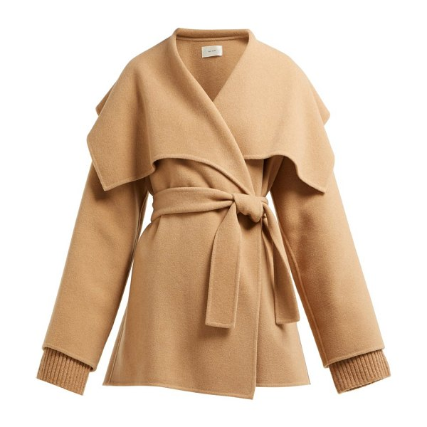 The Row disa oversized cashmere blend jacket in camel
