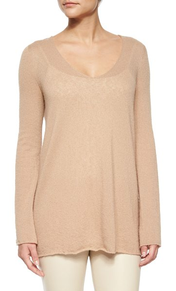 "THE ROW Dory Cashmere-Silk V-Neck Tissue Sweater - The Row ""Dory"" tissue knit sweater. Approx...."