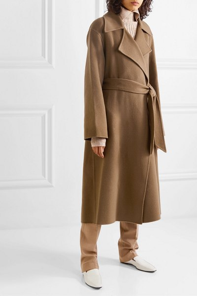 The Row efo belted cashmere and wool-blend coat in beige