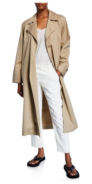 The Row Gami Belted Wrap Coat in beige