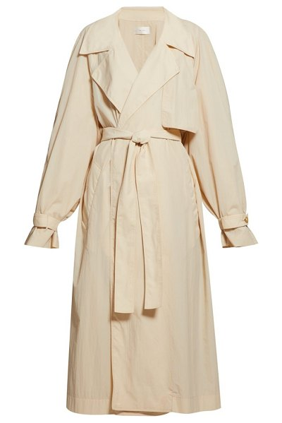 The Row kareem oversized trench coat in beige