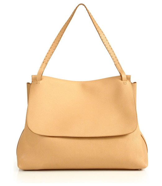 THE ROW leather top handle 14 bag in tan - Relaxed luxury, with a generous silhouette. Top handle,...