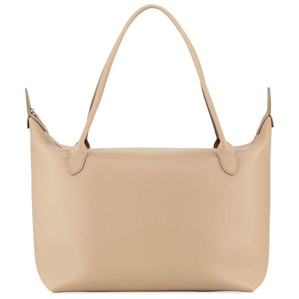 """The Row Lux Leather Satchel Bag in medium beige - THE ROW Lux smooth calfskin satchel bag. Approx. 26""""H x..."""