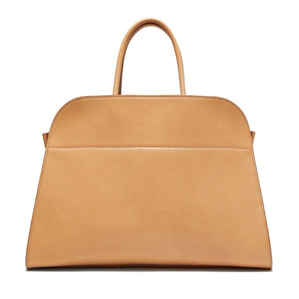 The Row margaux 15 medium leather tote bag in beige