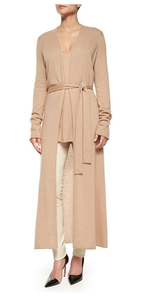 "The Row Mila Cashmere-Silk Long Cardigan Coat in light beige - The Row ""Mila"" long cardigan coat. Approx. measurements:..."