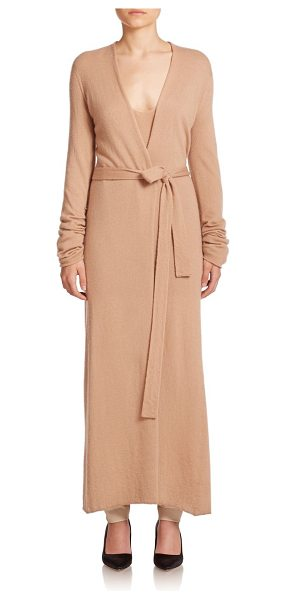 The Row Mila knit duster coat in lightbeige - Knit from a luxe blend of cashmere and silk, this...
