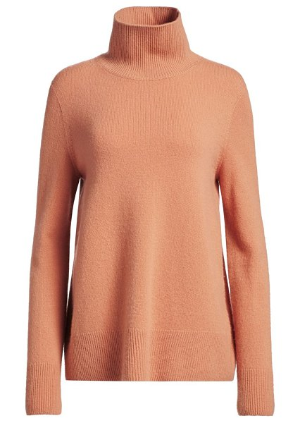 The Row milina wool & cashmere knit turtleneck sweater in caramel