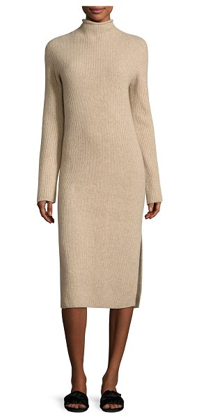 """The Row Moa Ribbed Mock-Neck Sweaterdress in taupe - THE ROW """"Moa"""" ribbed sweaterdress. Mock neckline. Long..."""