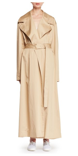 "THE ROW Moora Notched-Collar Belted Stretch-Poplin Trench Coat - The Row ""Moora"" stretch poplin trench coat. Oversized..."