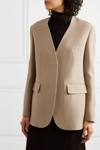 The Row murray wool and silk-blend blazer in beige