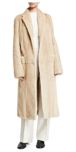 The Row Muto Mink Fur Trench Coat in beige