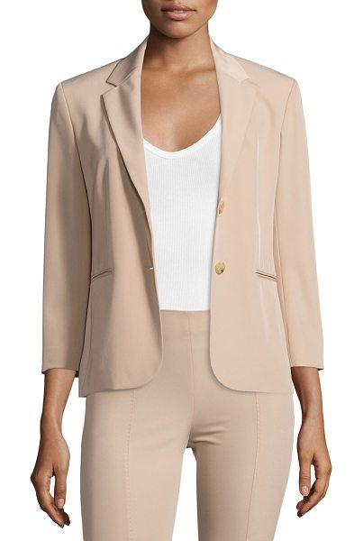 "The Row Nopman Twill Two-Button Jacket in amber beige - THE ROW ""Nopman"" twill jacket. Approx. 23""L from..."