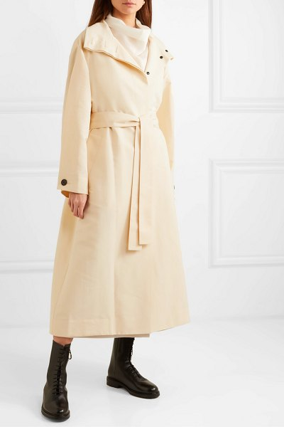 The Row panae silk and cotton-blend trench coat in beige