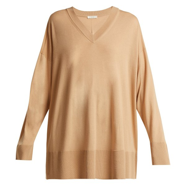 The Row Sabrinah Oversized Fine Wool Sweater in camel - The Row - Brainchild of Mary-Kate and Ashley Olsen, The...