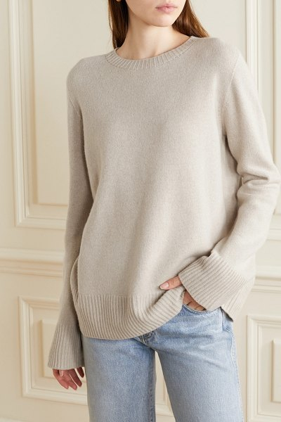 The Row sibel oversized wool and cashmere-blend sweater in beige