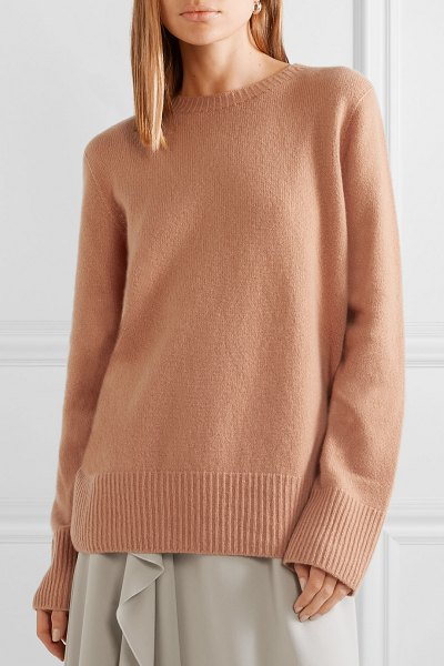 The Row sibel oversized wool and cashmere-blend sweater in beige - The warm peach color of The Row's 'Sibel' sweater looks...