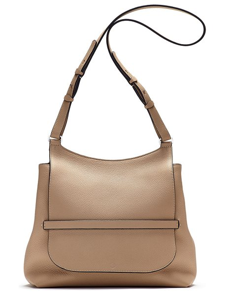 The Row Sideby Pebbled Calfskin Crossbody Bag in beige - THE ROW pebbled calfskin crossbody bag. Palladium...