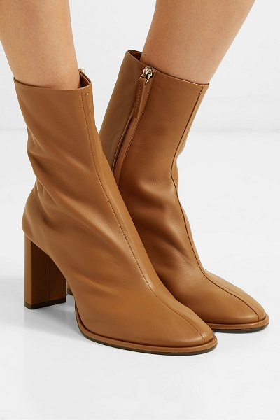 The Row teatime leather ankle boots in tan