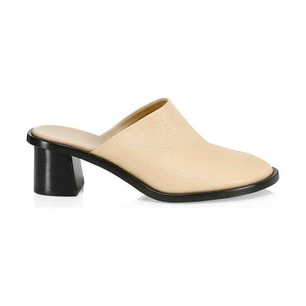 The Row teatime leather clogs in cream