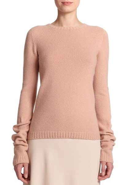 The Row Tisa crewneck sweater in nude - An elongated sleeve design lends a modern touch to this...