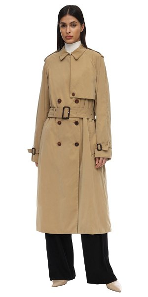 The Row Triana waterproof canvas trench coat in camel