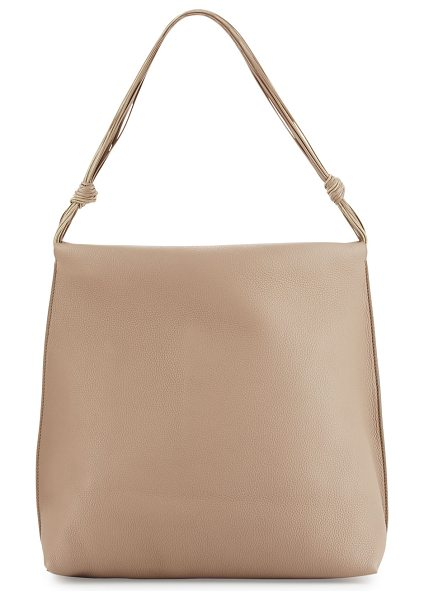 The Row WANDER BAG-FINE-GRAINED CALF in stone pld - THE ROW fine-grained leather shoulder bag. Polished...