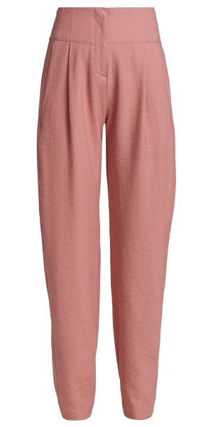 The Sei high-rise pleated trousers in rose