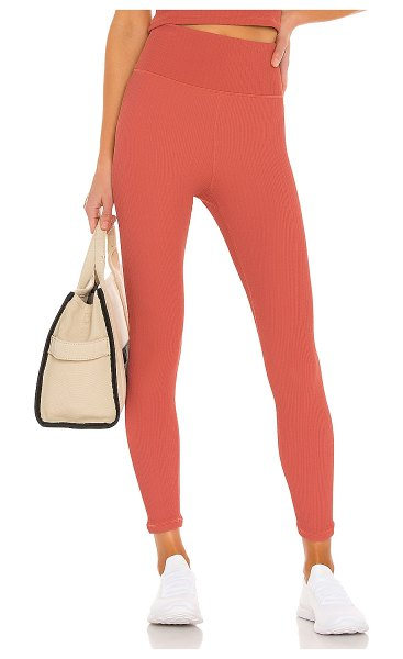 THE UPSIDE jacquard dance midi pant in apricot
