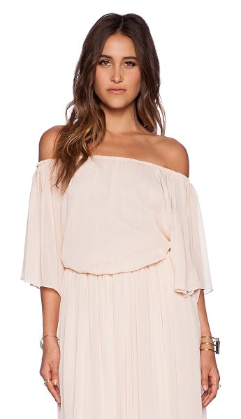The Wallflower Festival top in peach - Poly blend. Hand wash cold. Elastic neckline and hem....