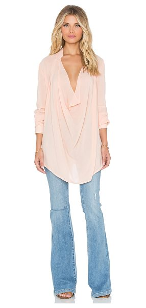 The Wallflower The wallflower wild drape top in peach - Poly blend. Neckline keyhole with button closure. Button...