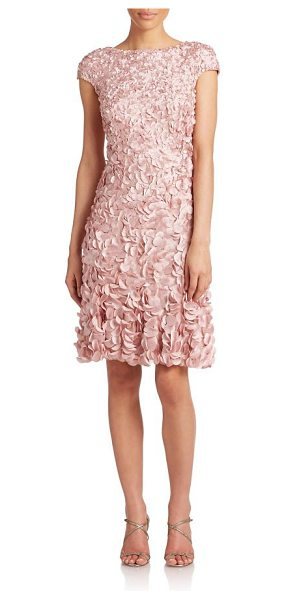 THEIA beaded petal dress - A flourish of eye-catching petals, each secured by a...