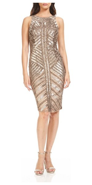 Theia sequin sheath dress in gold - Light up the holiday party in a glitzy cocktail dress...