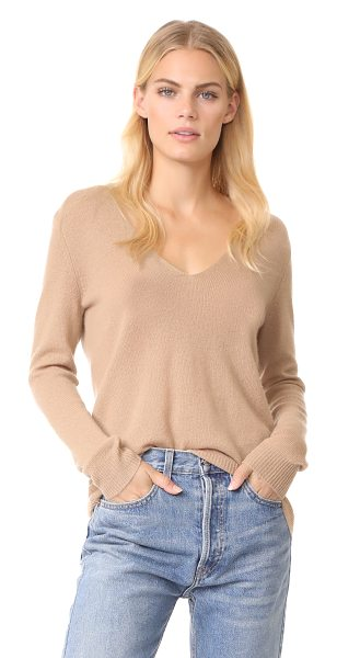 Theory adrianna cashmere sweater in camel - This loose, lightweight Theory sweater is styled with a...