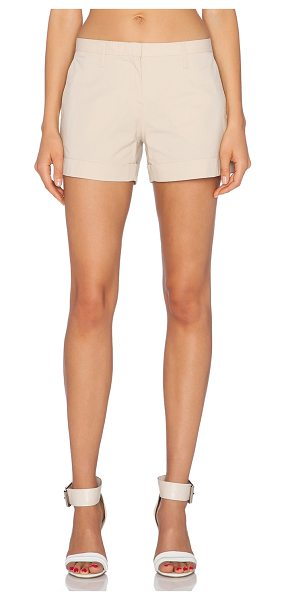 "Theory Alem short in tan - 95% cotton 5% elastane. Shorts measure approx 12"""" in..."