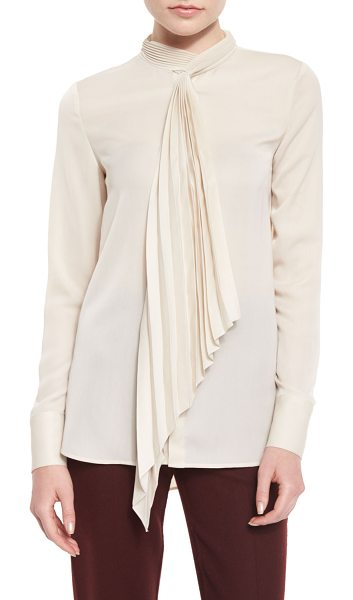 "THEORY Bellana P Top w/Pleated Tie - Theory ""Bellana P"" top with accordion-pleated tie draped..."