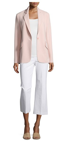 "Theory Brixmill admiral crepe blazer in blush - Theory ""Brixmill"" blazer in Admiral crepe. Notch lapel;..."