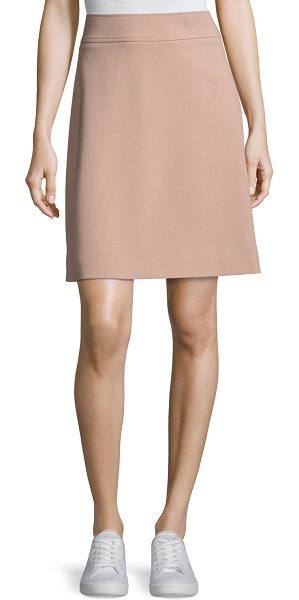"THEORY Camogie High-Waist Mini Skirt - Theory ""Camogie"" crepe mini skirt. Approx. 18""L down..."