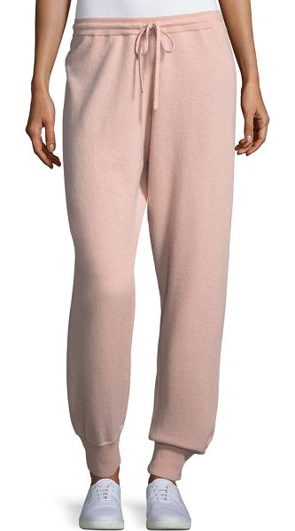 Theory Cashmere Athletic-Stripe Lounge Pants in pink - EXCLUSIVELY AT NEIMAN MARCUS Theory cashmere lounge...
