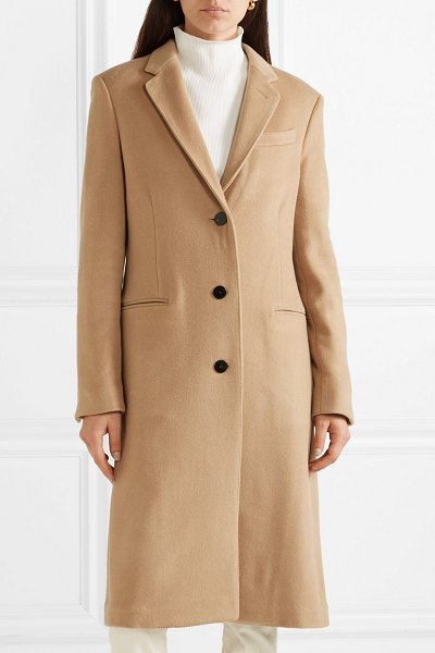 Theory cashmere coat in sand