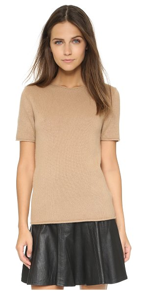 THEORY Cashmere tolleree short sleeve sweater - An updated Theory sweater in sumptuous cashmere. Rolled...