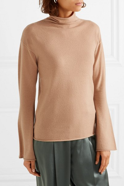 Theory cashmere turtleneck sweater in camel - A turtleneck sweater is a no-brainer for the cooler...